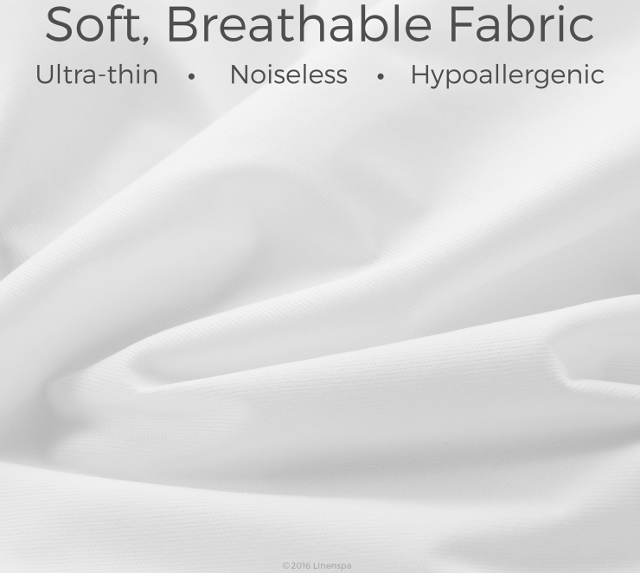 LinenSpa Zippered Breathable Mattress Protector