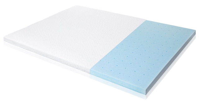 Isolus 2.5-inch Ventilated Gel Memory Foam Mattress Topper