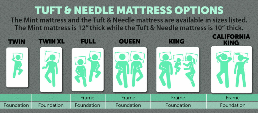 Tuft & Needle mattress options