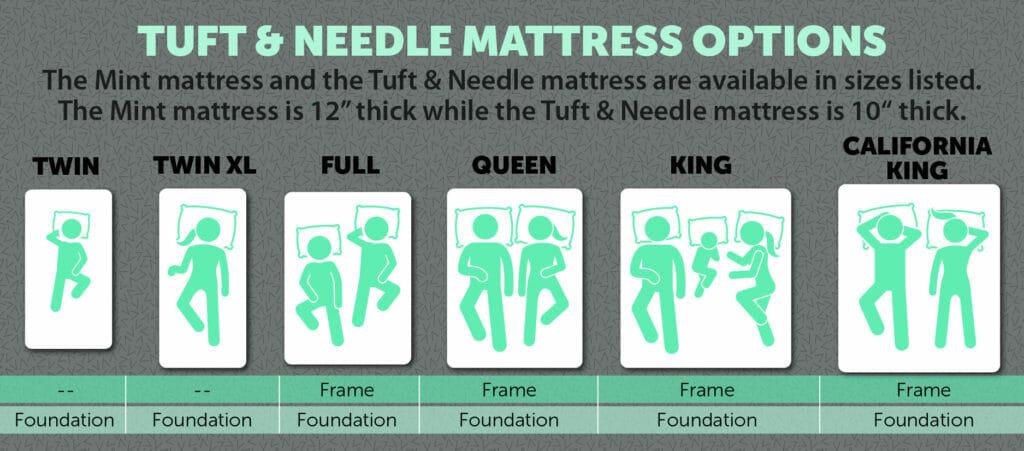 Tuft & Needle mattress options