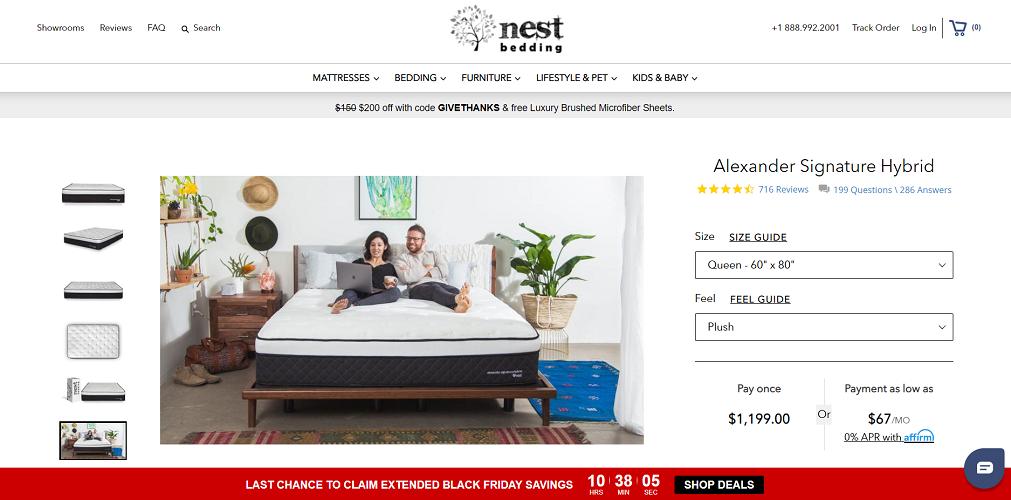 Nest Alexander Hybrid mattress