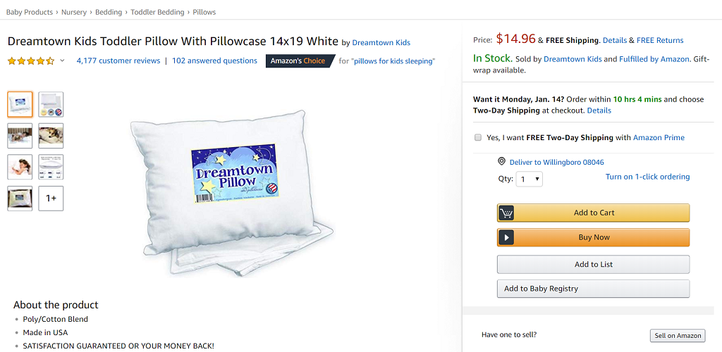 Dreamtown Kids Pillow
