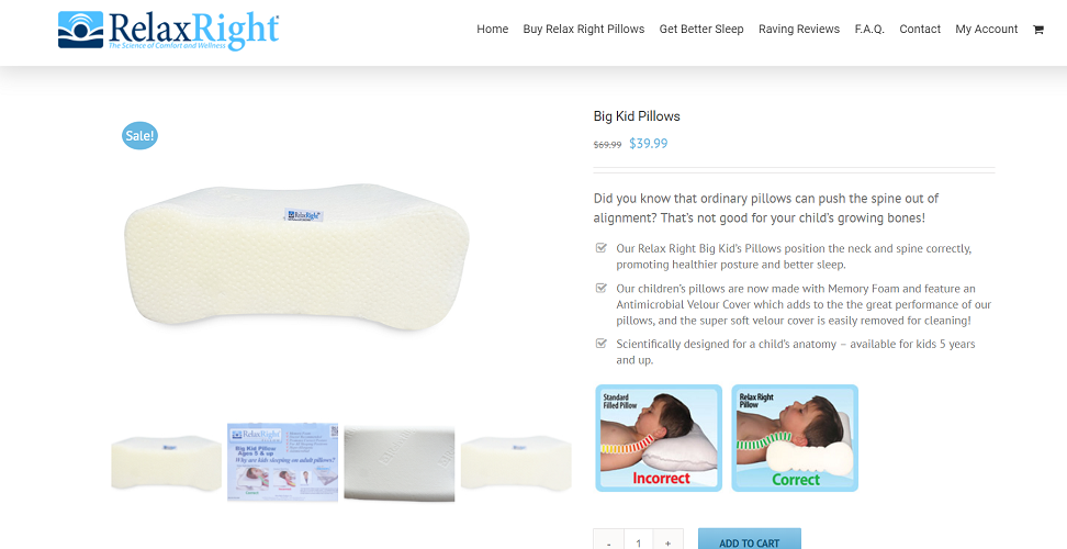 Relax Right Pillow