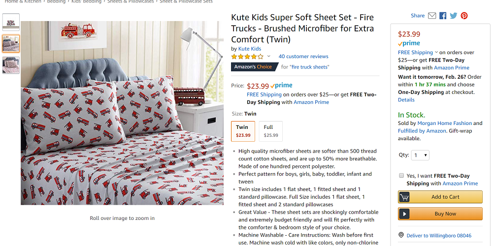 Kute Kids Twin Super Soft Sheet Set