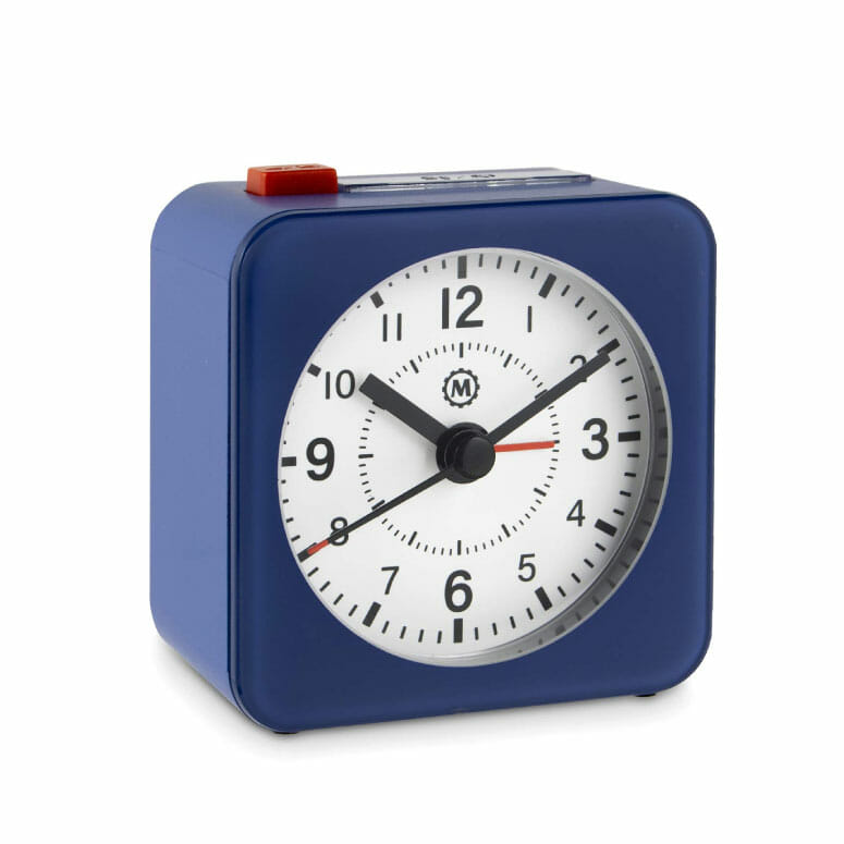 Marathon CL030065BL-WH2 Mini Travel Alarm Clock
