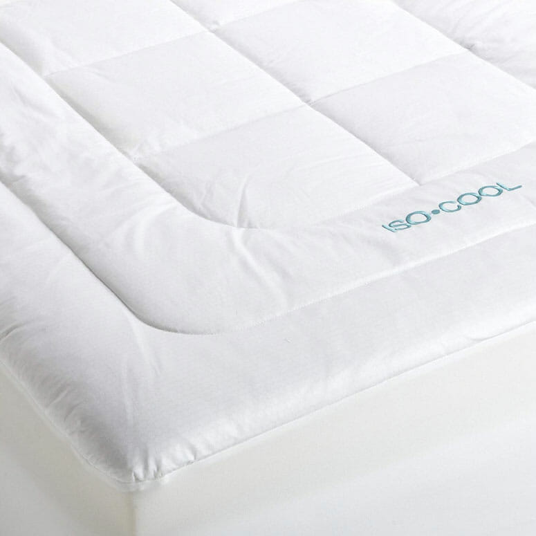 SleepBetter Iso-Cool Memory Foam Mattress Topper with Outlast Cover
