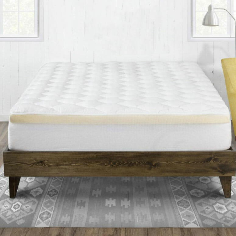 eLuxury Double Thick 2-Piece Bamboo Mattress Pad & Comfort Topper