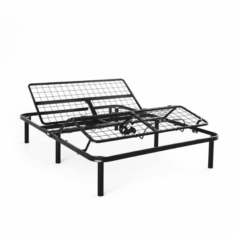 LUCID L100 Adjustable Bed Base Steel Frame