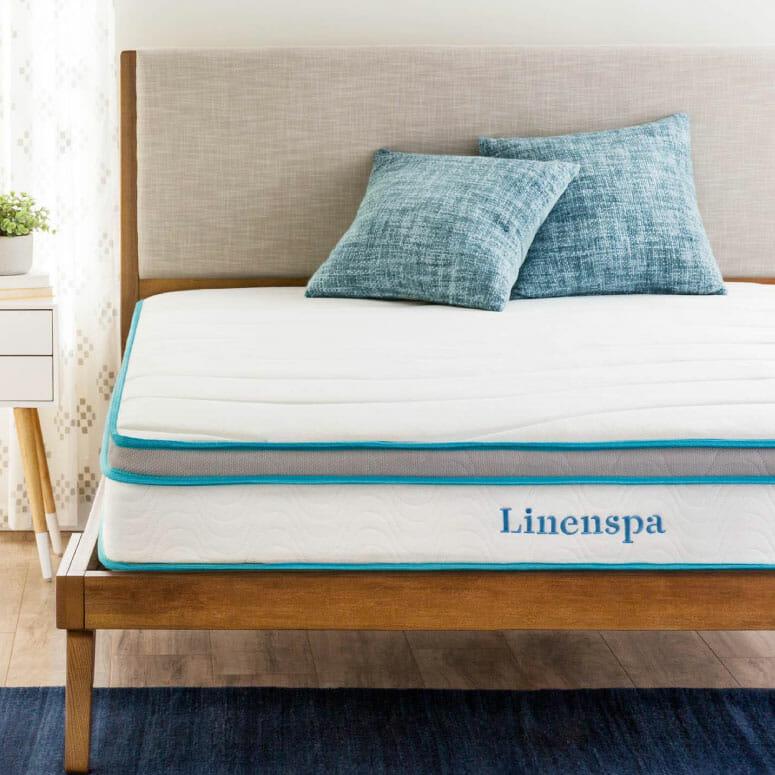 Linenspa 8-Inch Memory Foam Hybrid Mattress