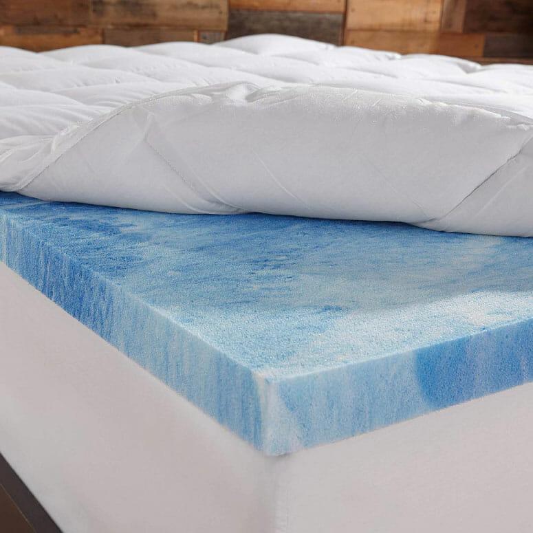 Sleep Innovations Gel Memory Foam 4-Inch Dual Layer Mattress Topper