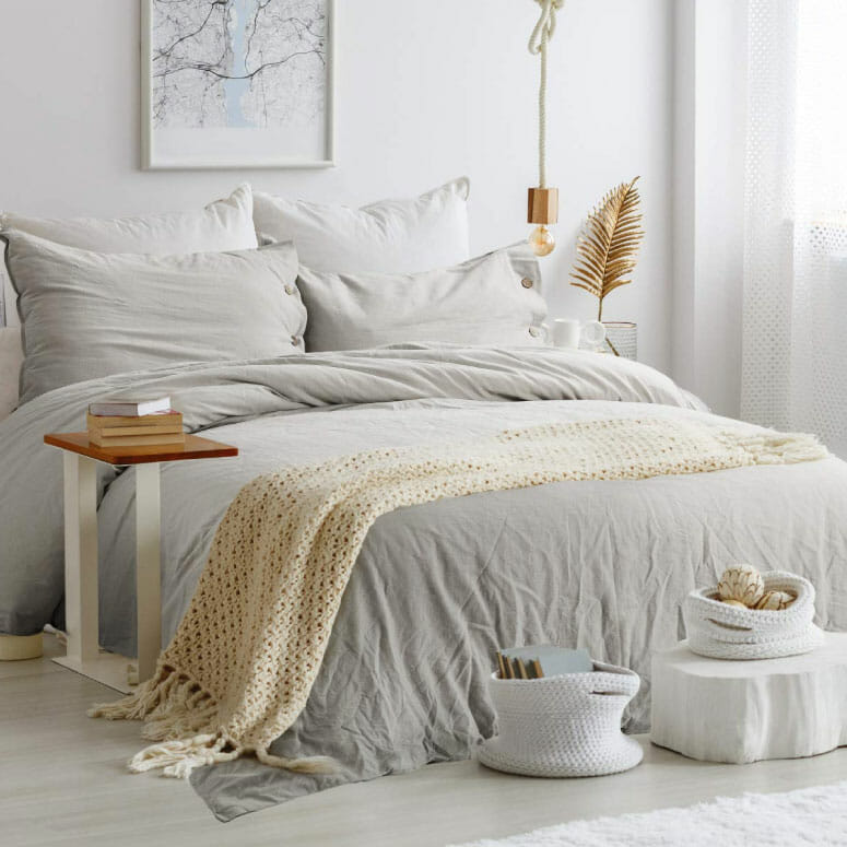 Bedsure 45% Cotton 55% Linen Duvet Cover
