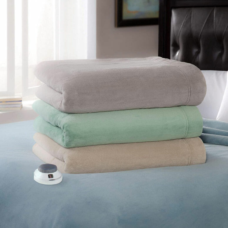 Serta Luxe Plush Fleece Electric Blanket