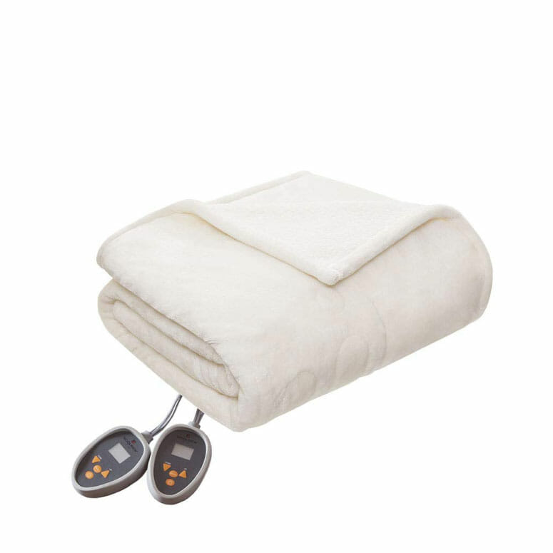 Woolrich Ultra Soft Knitted Plush Reverse to Sherpa Electric Blanket