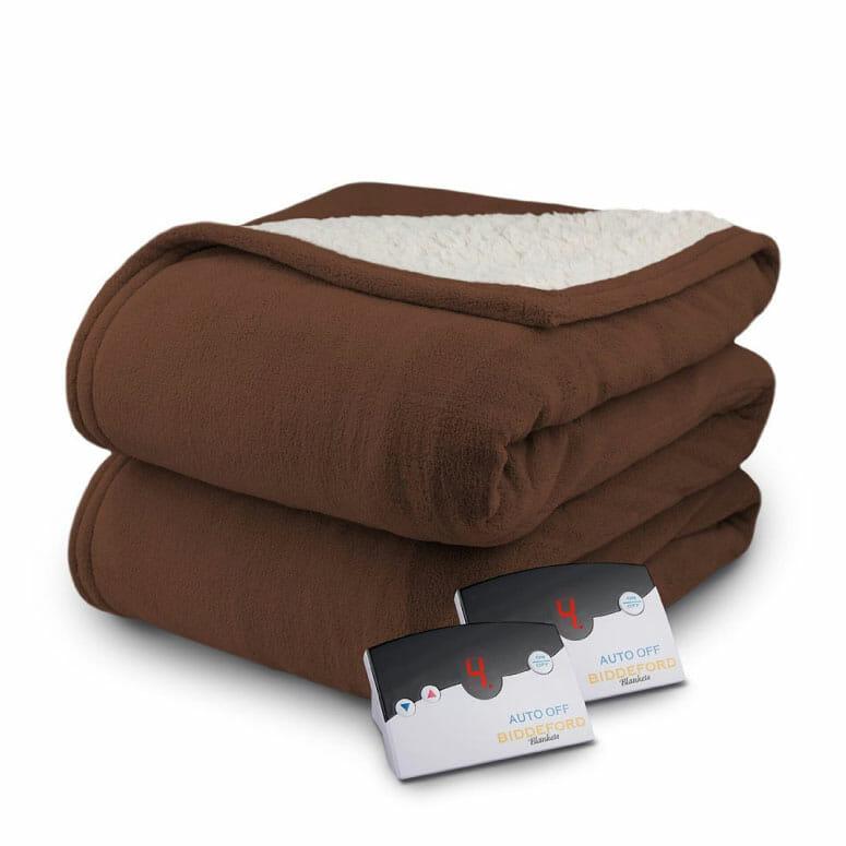 Biddeford MicroPlush Sherpa Electric Heated Blanket