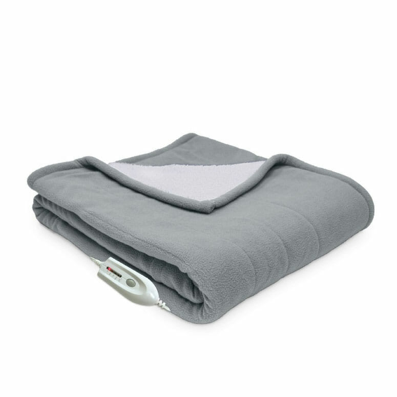 Serta Reversible Sherpa/Fleece Electric Throw Blanket