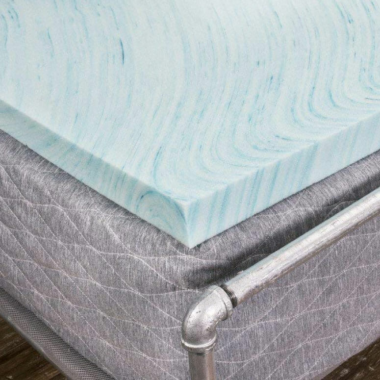 "DreamFoam Bedding 2"" Gel Swirl Memory Foam Topper"