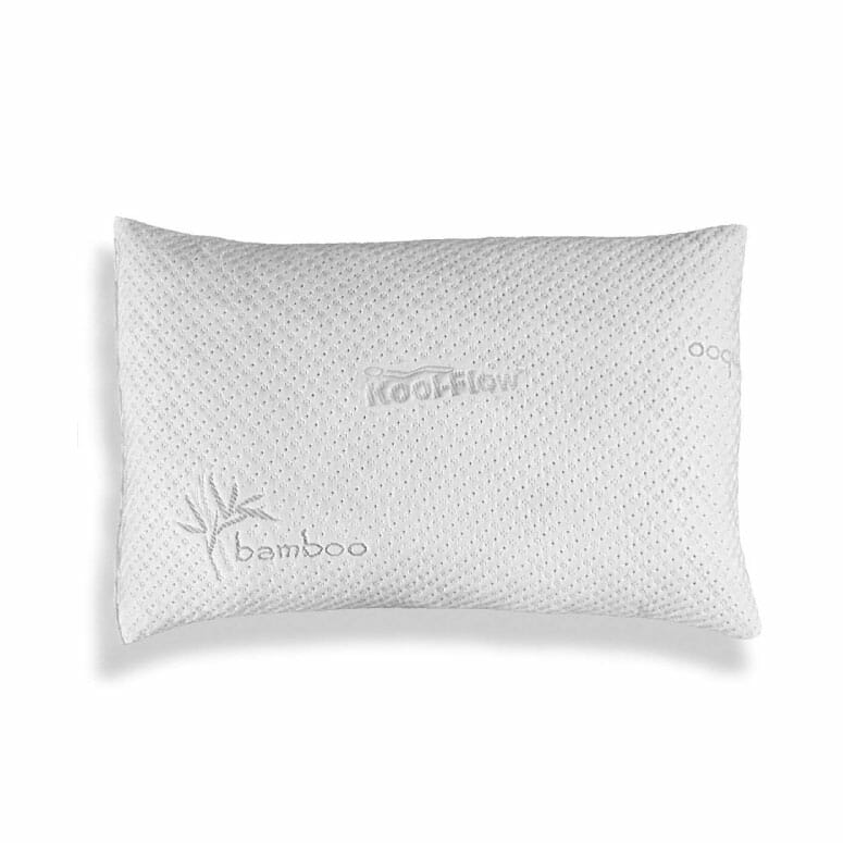Xtreme Comforts Hypoallergenic Adjustable Thickness Kool-Flow Micro Vented Bamboo Shredded Memory Foam Bed Pillow