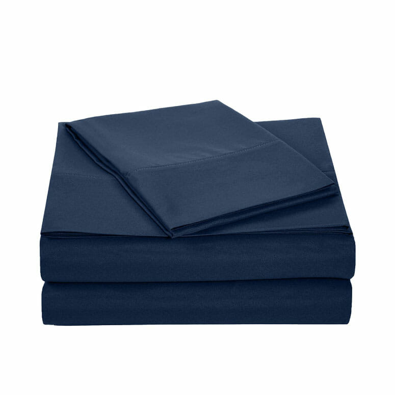 AmazonBasics Heather Cotton Jersey Bed Sheet Set