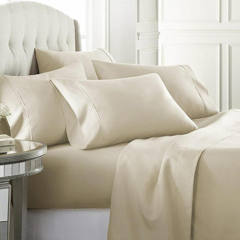 Danjor Linens 6-Piece Hotel Luxury Soft 1800 Series Premium Bed Sheets Set