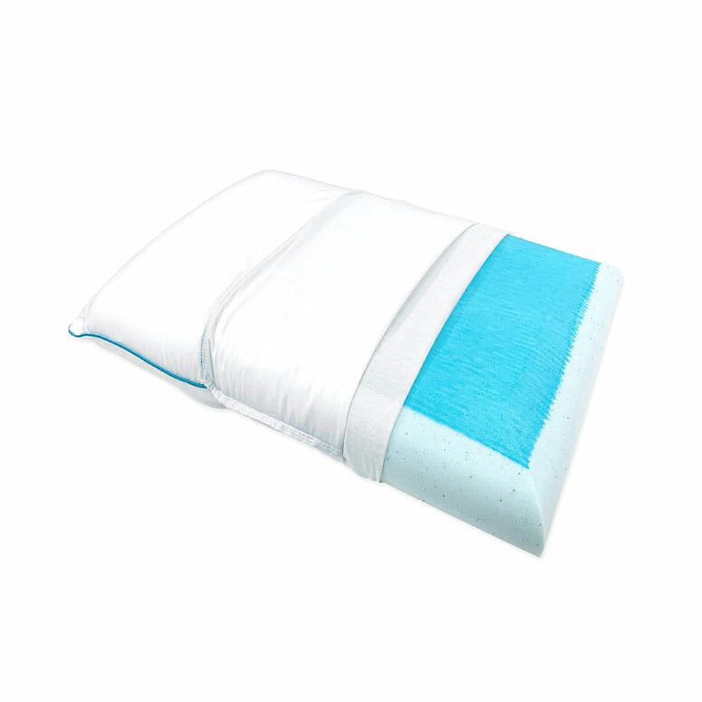 Bluewave Bedding Ultra Slim Max Cool Gel Memory Foam Pillow