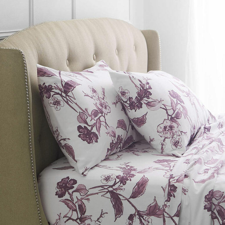 Pinzon Signature 190-Gram 100% Cotton Heavyweight Velvet Flannel Bed Sheet Set