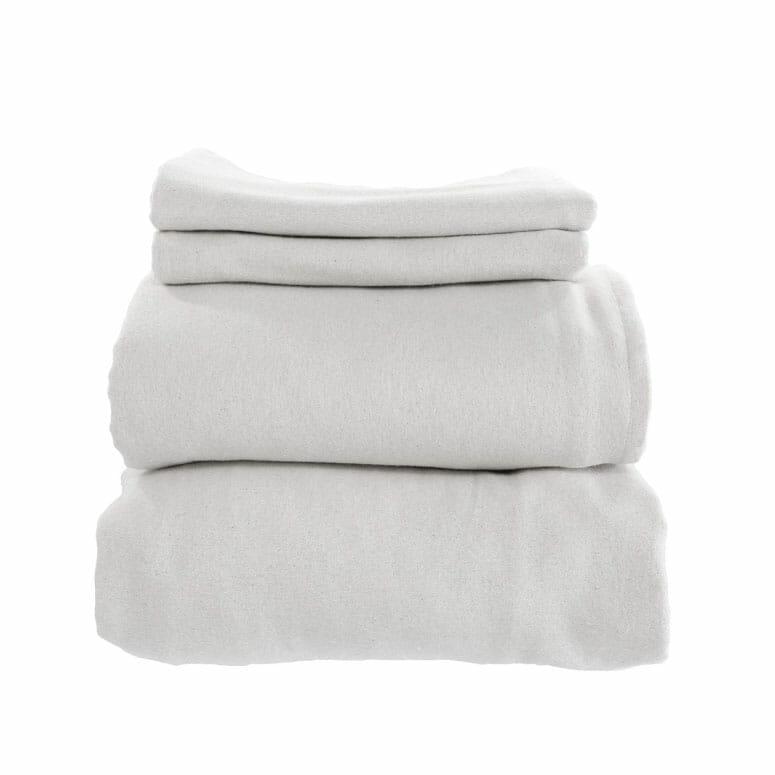Whisper Organics Organic-Cotton Flannel Sheets Set