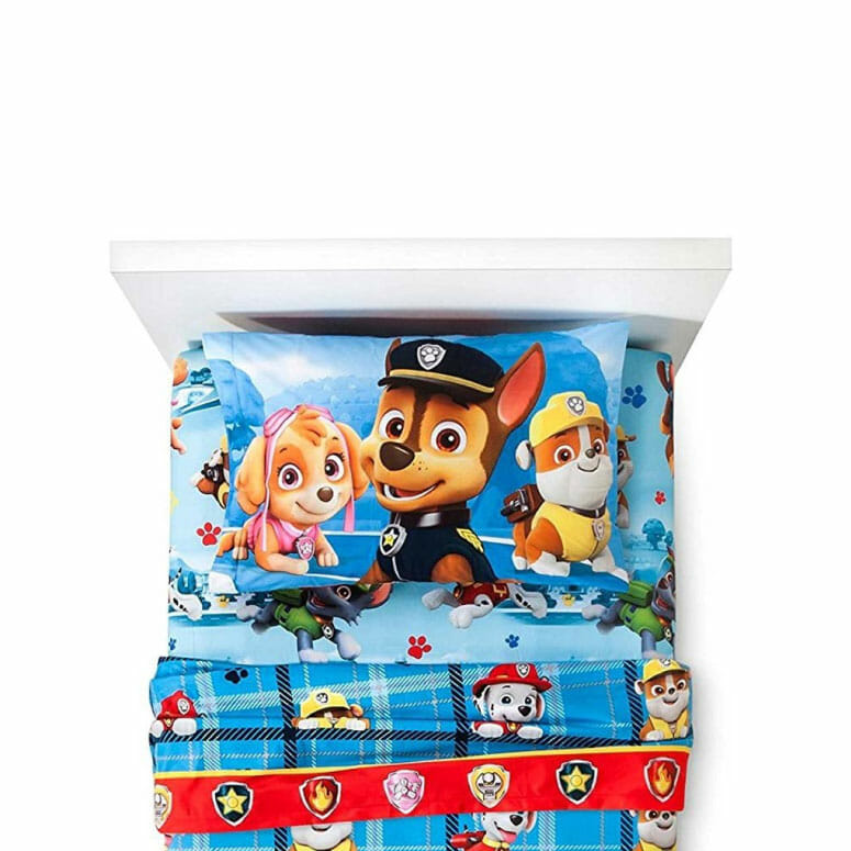 Paw Patrol Chase Flannel Sheets