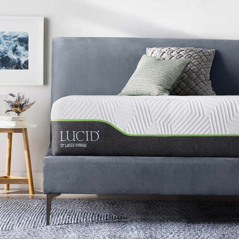 LUCID 12 Inch Queen Latex Hybrid Mattress