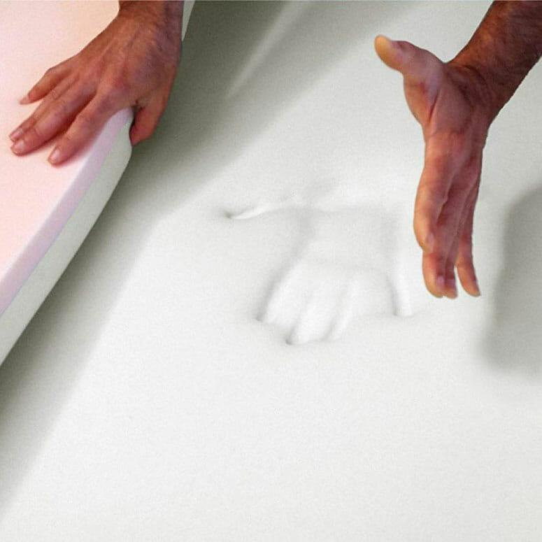 Snuggle-Pedic Patented Double Layer 4lb. & 5lb. Density Viscoelastic Memory Foam Mattress Topper/Bed Overlay Pad