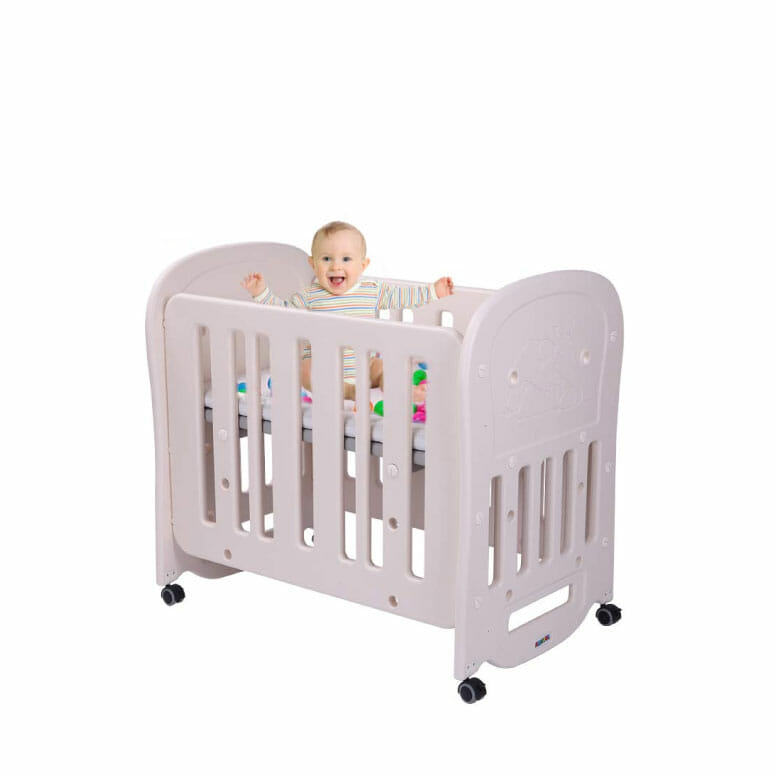 JOYMOR 4-in-1 Baby BPA-Free Mini Crib
