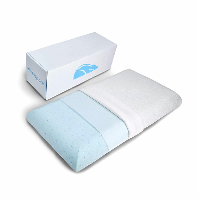 Belly Sleep Gel Infused Memory Foam Pillow for Stomach and Back Sleepers