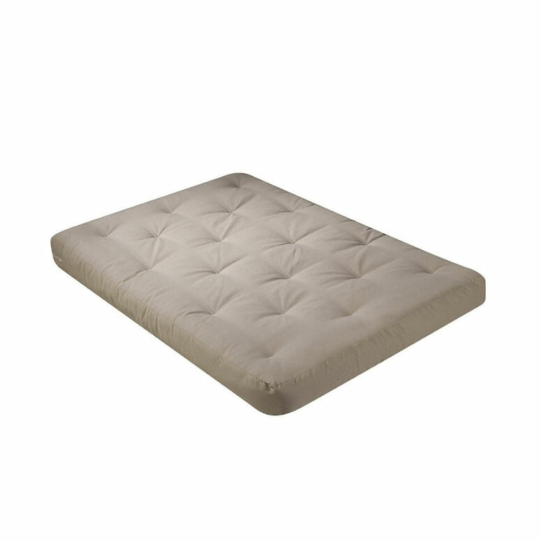 Serta Chestnut Double-Sided Foam and Cotton Queen Futon Mattress