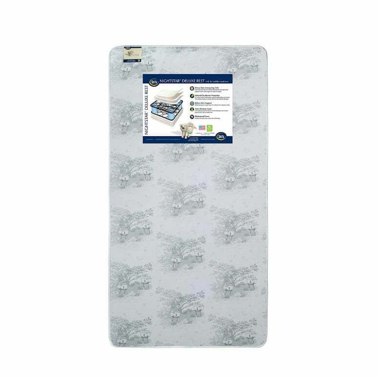 Serta Nightstar Deluxe Rest Innerspring/Memory Foam Crib and Toddler Mattress