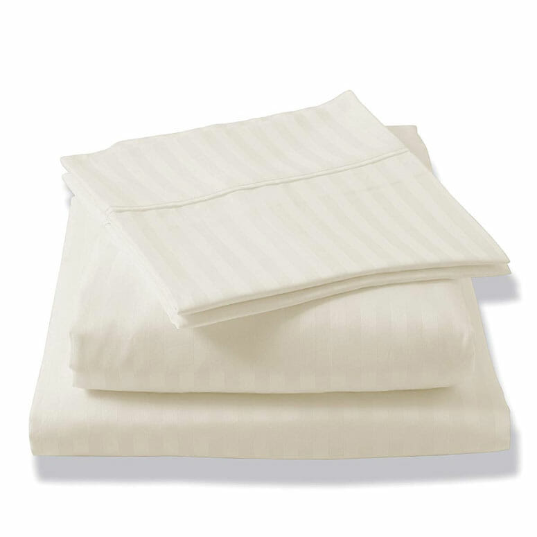 Brielle 400 Thread Count Egyptian Cotton Sateen Fine Sheet Set