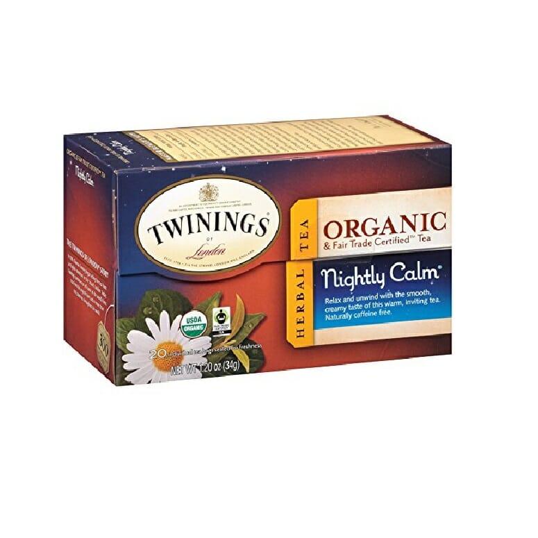 Twinings of London Organic and Fair Trade Certified Chamomile with Mint & Lemon Herbal Tea