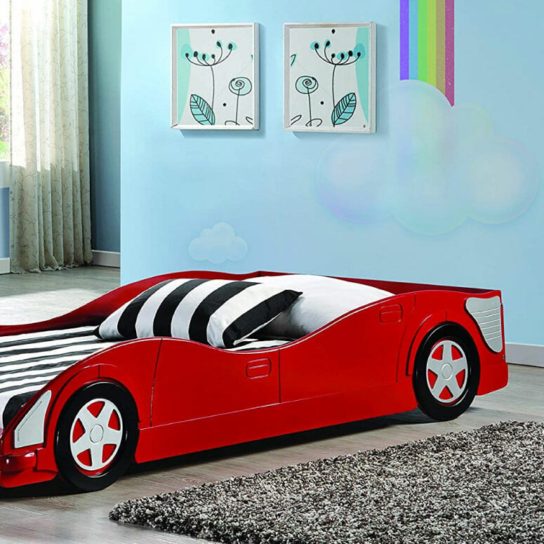 Donco Kids 4004-R Youth Race Car Bed