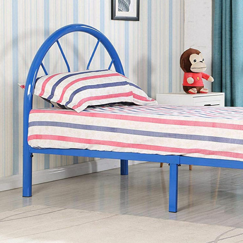 Roundhill Furniture Belledica Metal Bed Set with Headboard