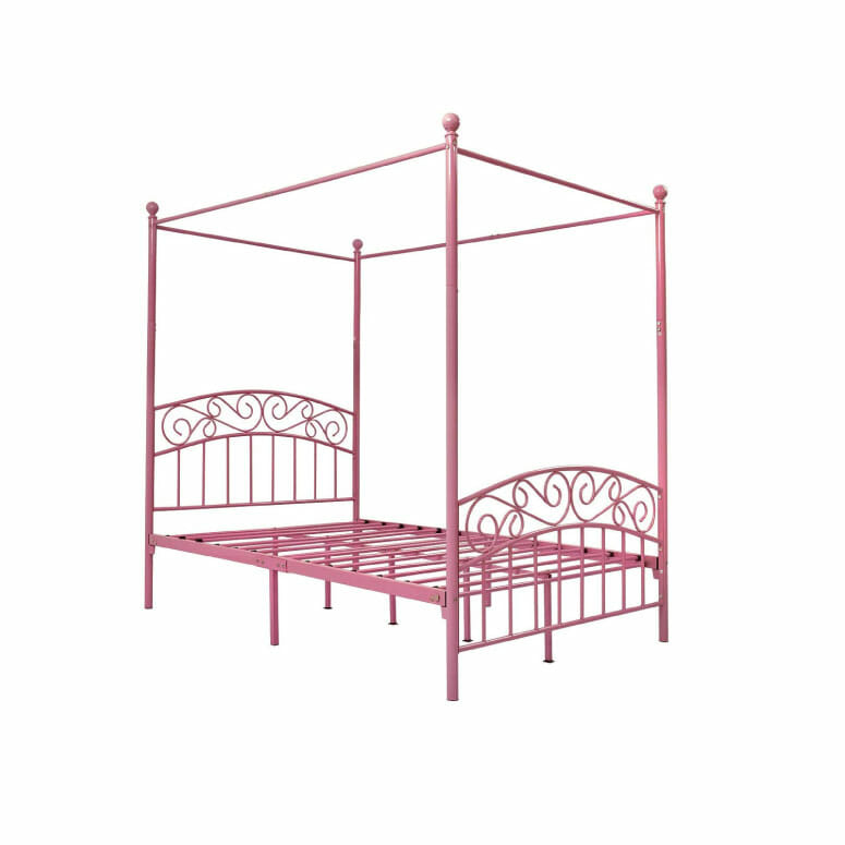 DUMEE Full Size Metal Canopy Bed Frame