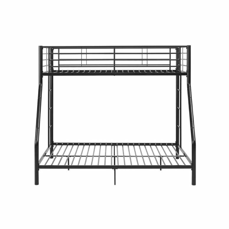 Walker Edison Furniture Twin-Over-Full Metal Frame and Ladder Bunk Bed