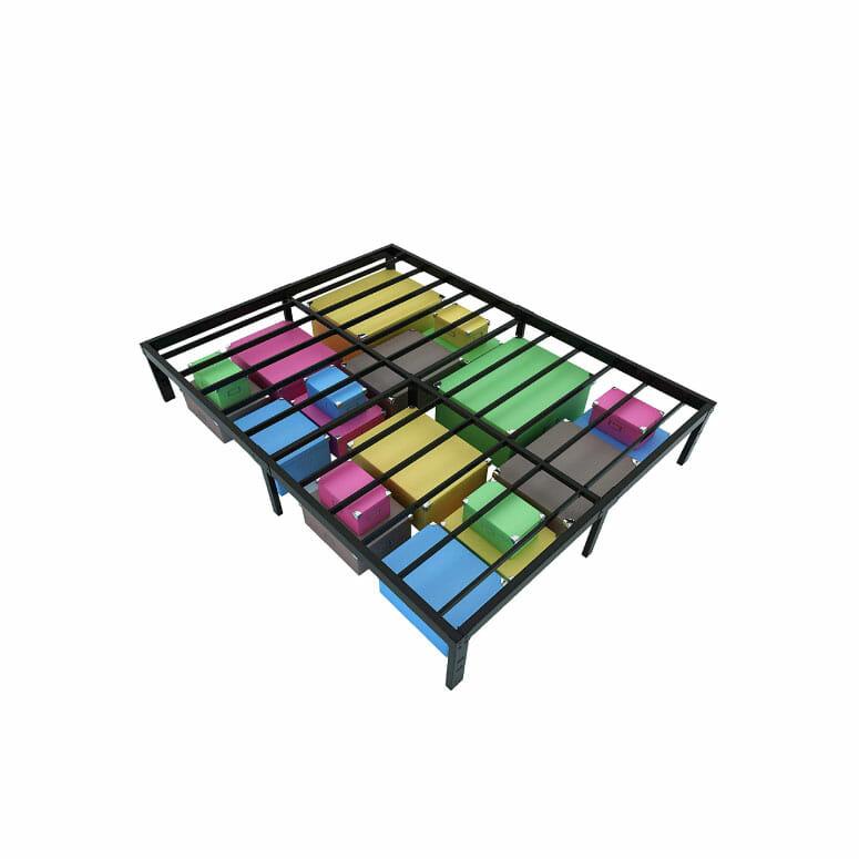 Homdock 14 Inch Metal Platform Bed Frame
