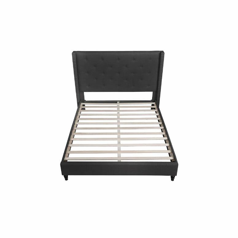 Best Master Furniture YY129 Vero Tufted Wingback Platform Bed