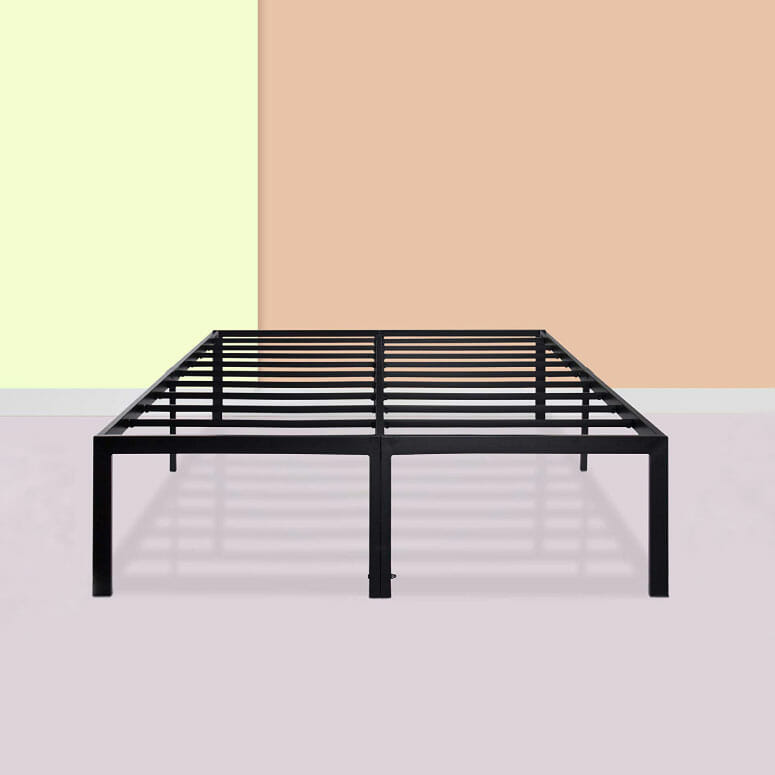 PrimaSleep 18 Inch Ultimate Strength High Profile Heavy Duty Steel Slat Bed Frame