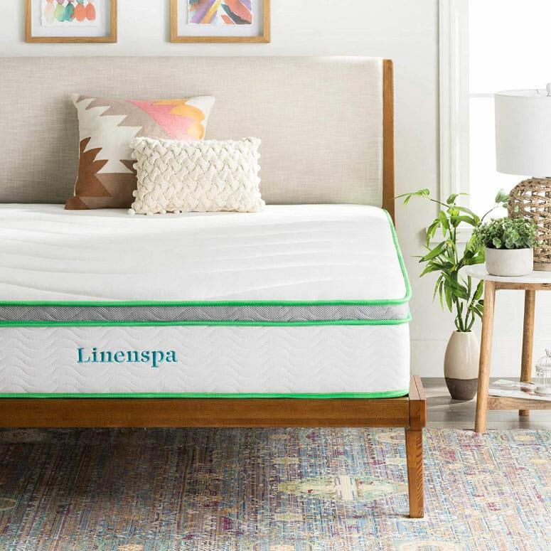 Linenspa 10-Inch Latex Hybrid Mattress