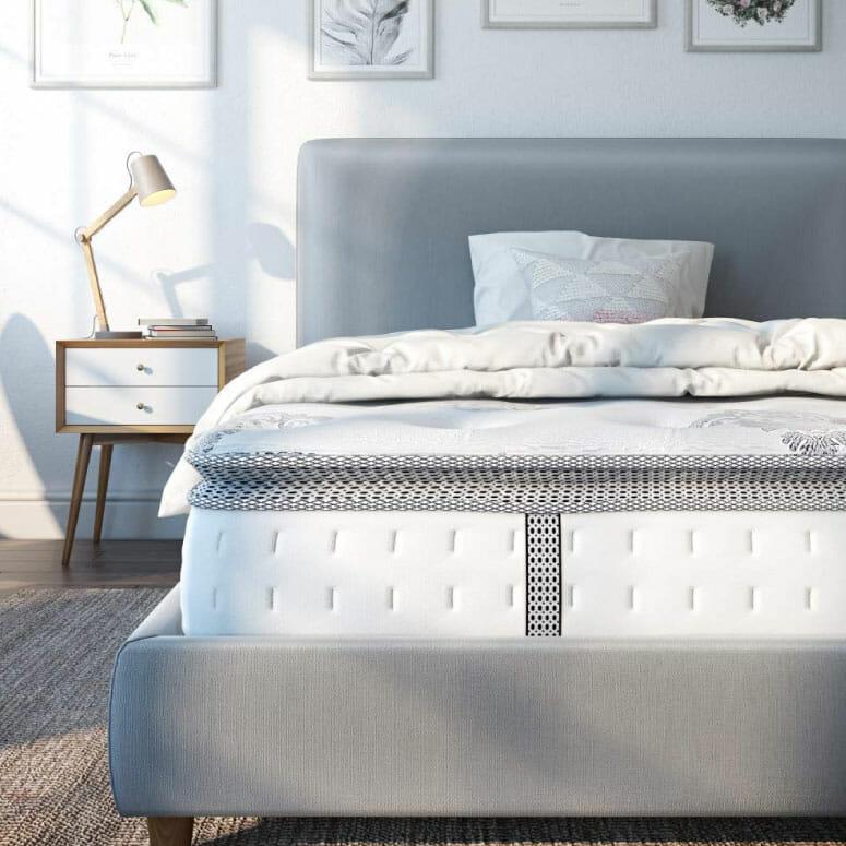 """Classic Brands Mercer Pillow-Top Cool Gel Memory Foam and Innerspring Hybrid 12"""" Mattress"""