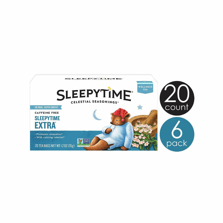 Celestial Seasonings Wellness Tea Sleepytime Extra