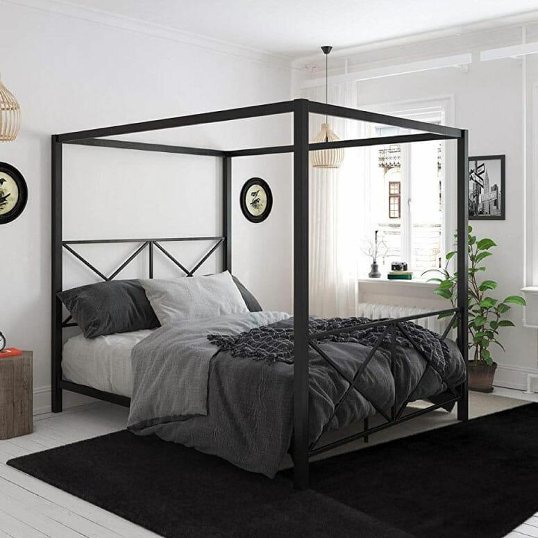 DHP Rosedale Metal Canopy Bed