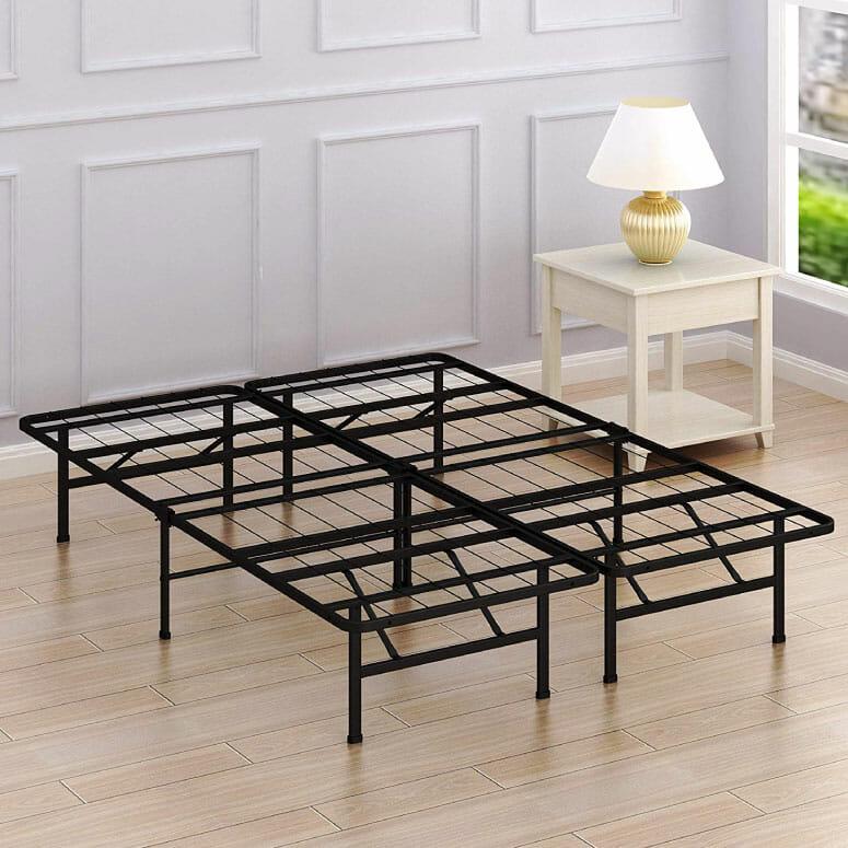 Simple Houseware 14-Inch Full-Size Mattress Foundation Platform Bed Frame