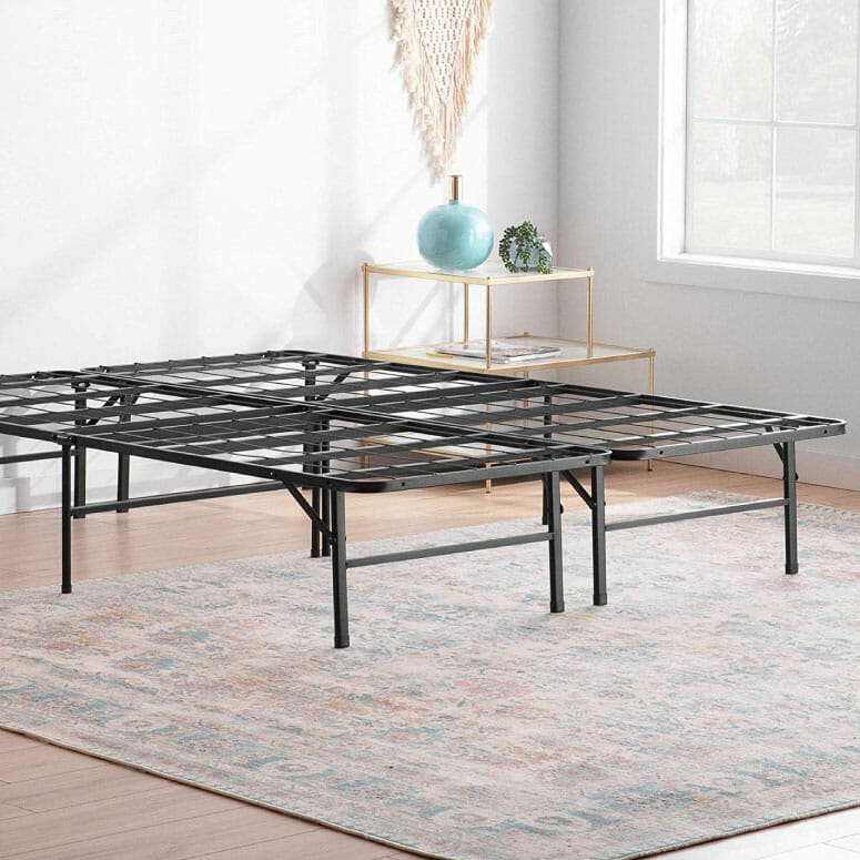 Linenspa 14 Inch Folding Metal Platform Bed Frame