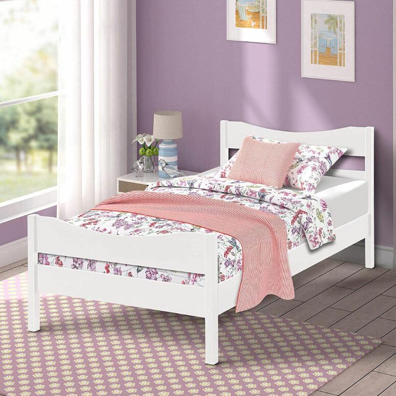 Merax Wood Platform Bed Twin Size
