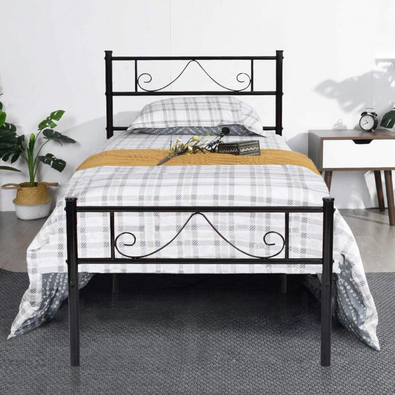 GreenForest Twin Bed Frame Metal Platform